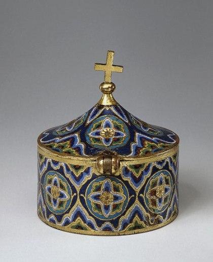 Pisside in smalto di Limoges, XIII sec. - New York, Metropolitan Museum.